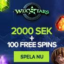 20 freespins hos Wixstars