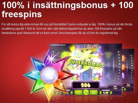 freespins hos nordicbet casino