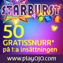 50 free spins hos PlayOJO